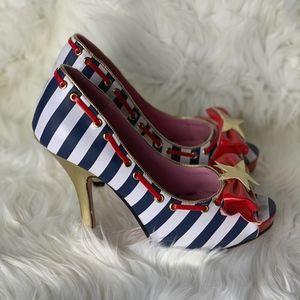 Leg Avenue Striped Sailor Heel